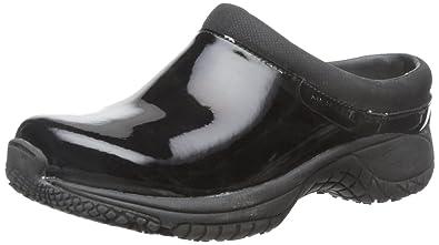 Merrell Womens Encore Moc Pro Shine SlipResistant Work Shoe Black  Patent 5