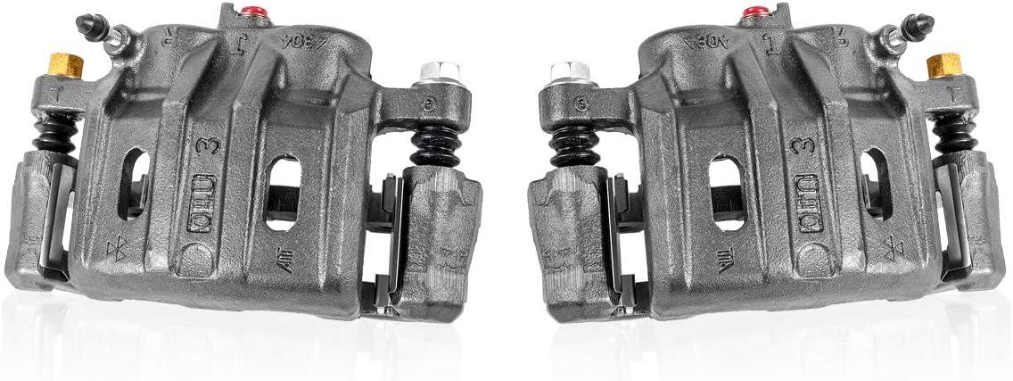 2 Hardware FRONT Original Remanufactured Brake Calipers Pair Callahan CCK05364