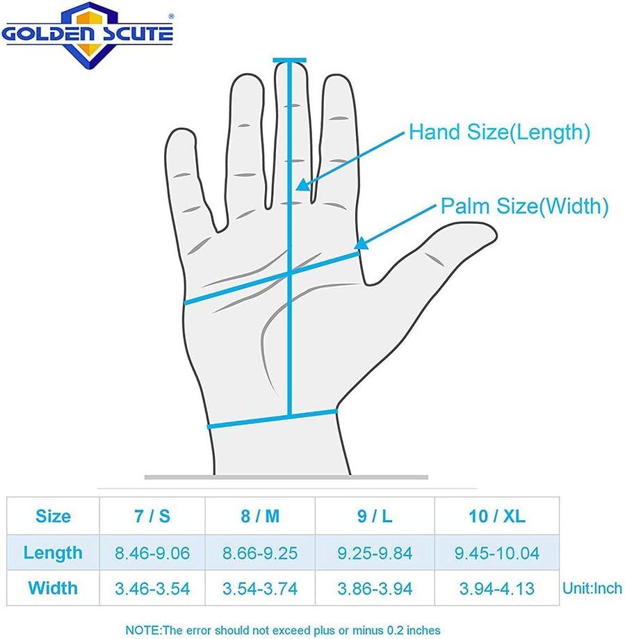 Golden Scute 6 Pairs Waterproof Freezer Winter Work Gloves Fleece-Lined with Tight Grip Palms Cold Temperature Work Gloves Medium