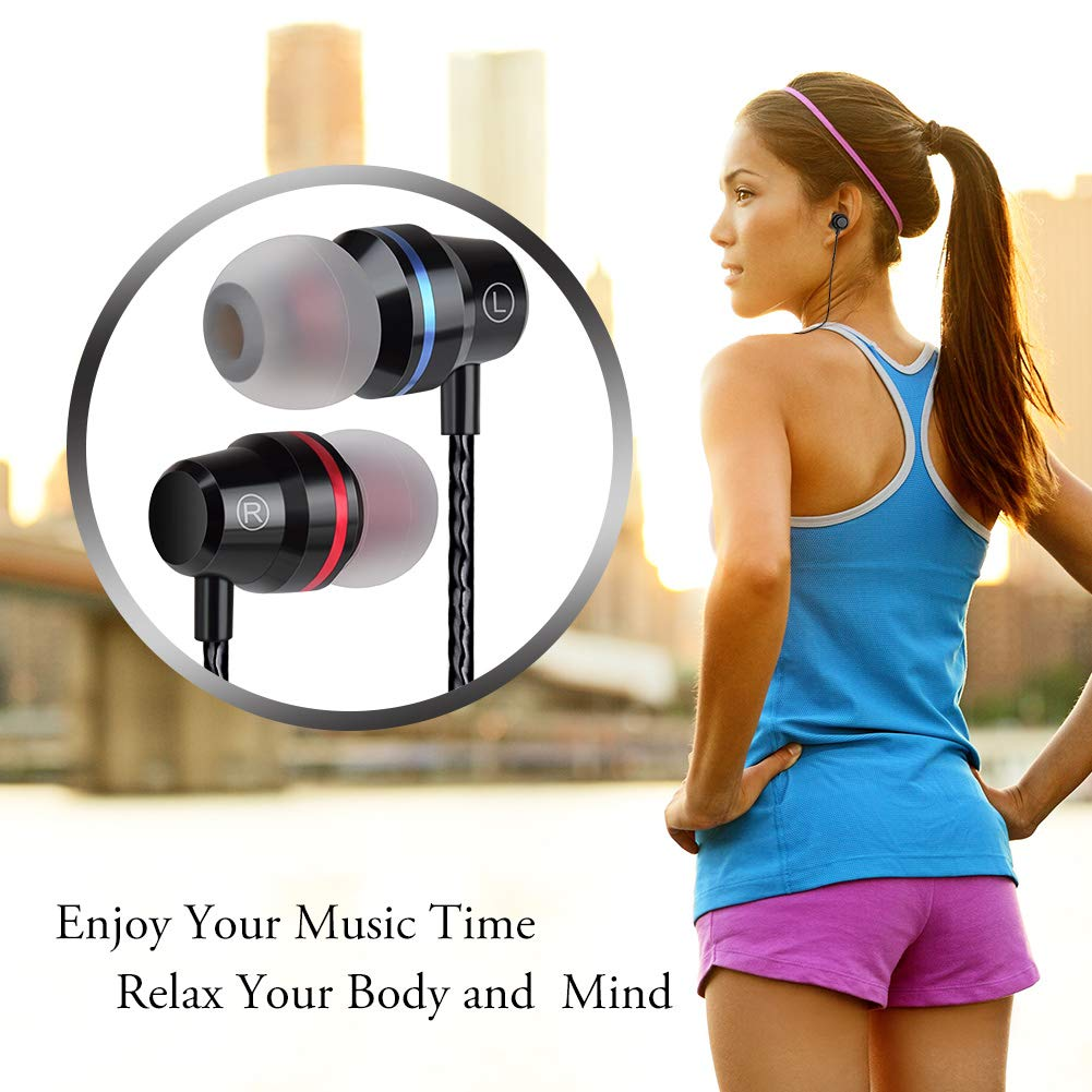 Earbuds Ear Buds Wired Headphones Microphone in Ear Earphones Stereo Mic Volume Control Android Smart Phones iPhone iPad Samsung Music Noise Cancelling 3.5mm Audio Headphones by Gsebr (Image #2)