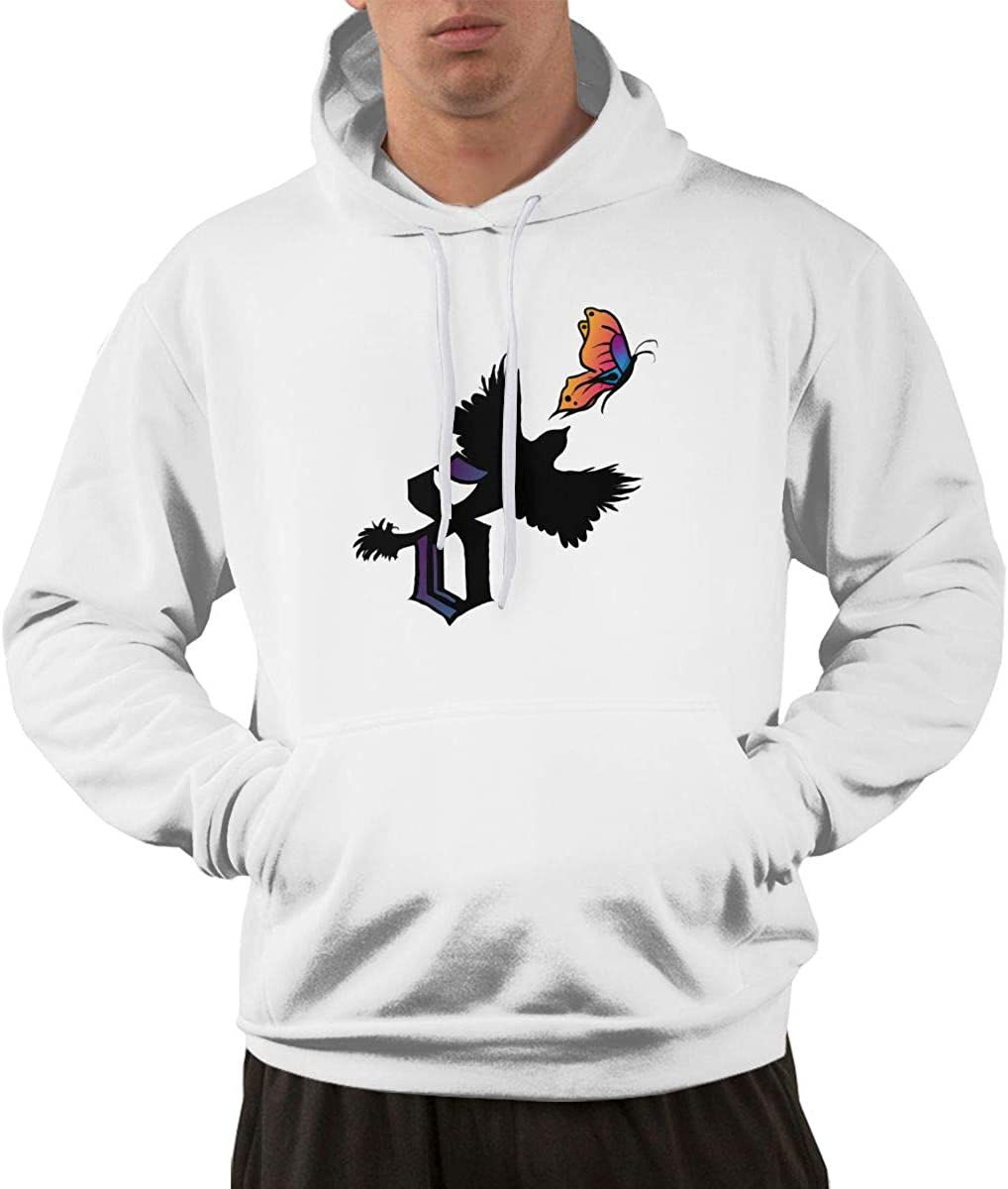 ASFSDGSDG Shinedowns Crow Chasing The Butterfly Mens Comfortable Hoodie