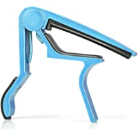 Blue) - Donner Single-Handed Electric Acoustic Folk Guitar Capo Blue