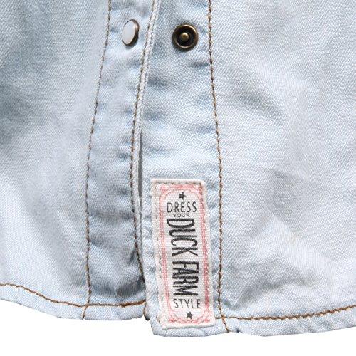 tee Chiaro C4384 Shirt Top Azzurro Woman Camicia Jeans Donna BxIIUTRq