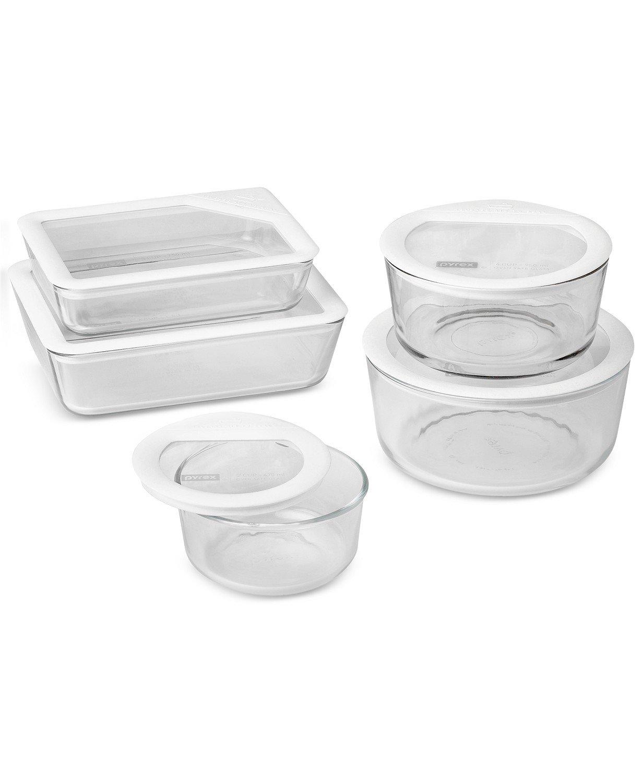 Pyrex 10-Pc. Ultimate White Storage Set