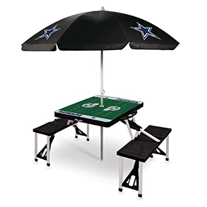 Amazoncom PICNIC TIME NFL Dallas Cowboys Picnic Table Sport With - Dallas cowboys picnic table