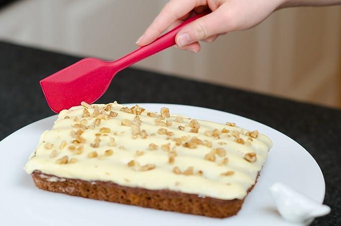 2 piezas Juego de espátula de silicona, sin BPA, aprobado por la FDA silicona de alta calidad alimentaria - Ideal para pasteles, pastas, hornear y cocinar ...