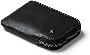 Bellroy Leather Card Pocket Wallet, Slim Zipper Wallet (Max. 15 Cards, Bills and Coin Pouch) - Black