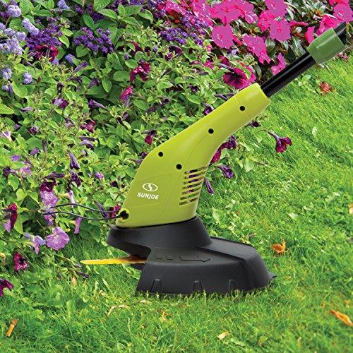Sun Joe SB601E Sharper Blade Stringless Electric Trimmer/Edger, Green