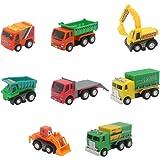 Akokie Modelos de Vehículos Camiones Set Juguetes Coche de Plástico para Niños de 3 4 5 6