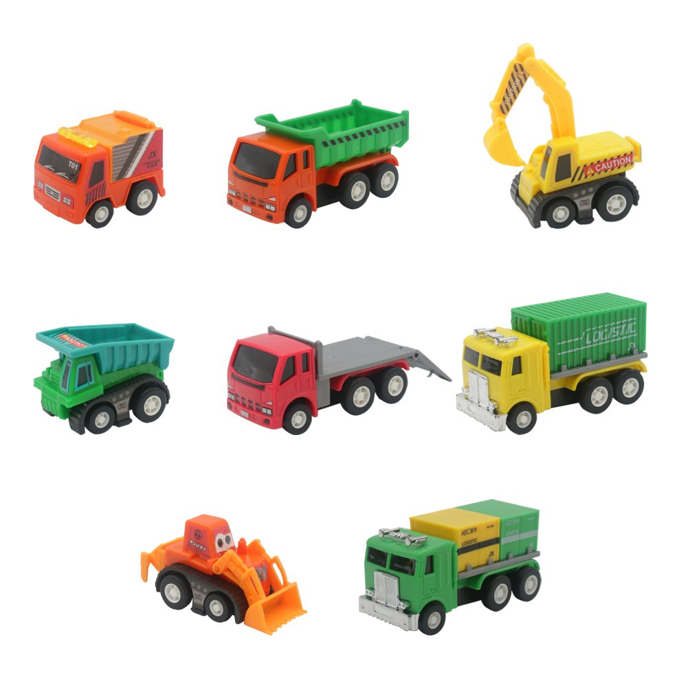Vehicles Trucks Set Mini Cars Push Back Toys Car for Boys Girls Car Lovers 3 4 5 6 Years Old (8 Pcs) JIAXIN TOYS FACTORY