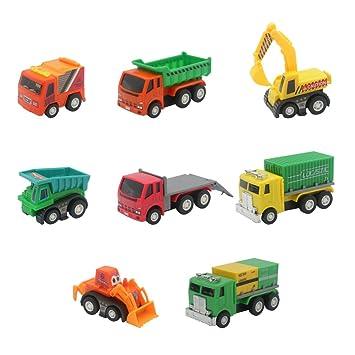 Akokie Modelos de Vehículos Camiones Set Juguetes Coche de Plástico ...