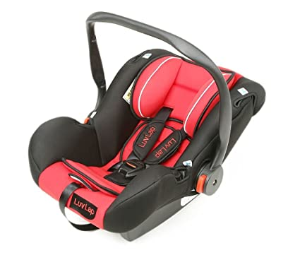 304eb7f4748 Buy Luvlap Infant Baby Car Seat Cum Carry Cot and Rocker with Canopy  Suitable for 0-15 Month Baby (0-13kgs) - Red Online at Low Prices in India  - Amazon.in