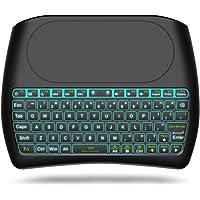 acemax H182.4GHz Wireless Keyboard mouse Combo, del mundo primera Full Touch Keyboard, mejor socio para Android TV Box, PC con Windows, Kodi, HTPC, IPTV, PS3, Xbox 360, Raspberry Pi, NVIDIA SHIELD TV, MacBook