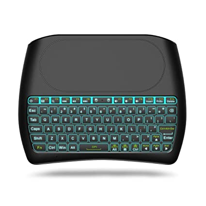 01ef44442b9 ACEMAX D8 2.4GHz Mini Wireless Keyboard with Touchpad Mouse Backlit  Rechargeable Battery Best Remote Partner