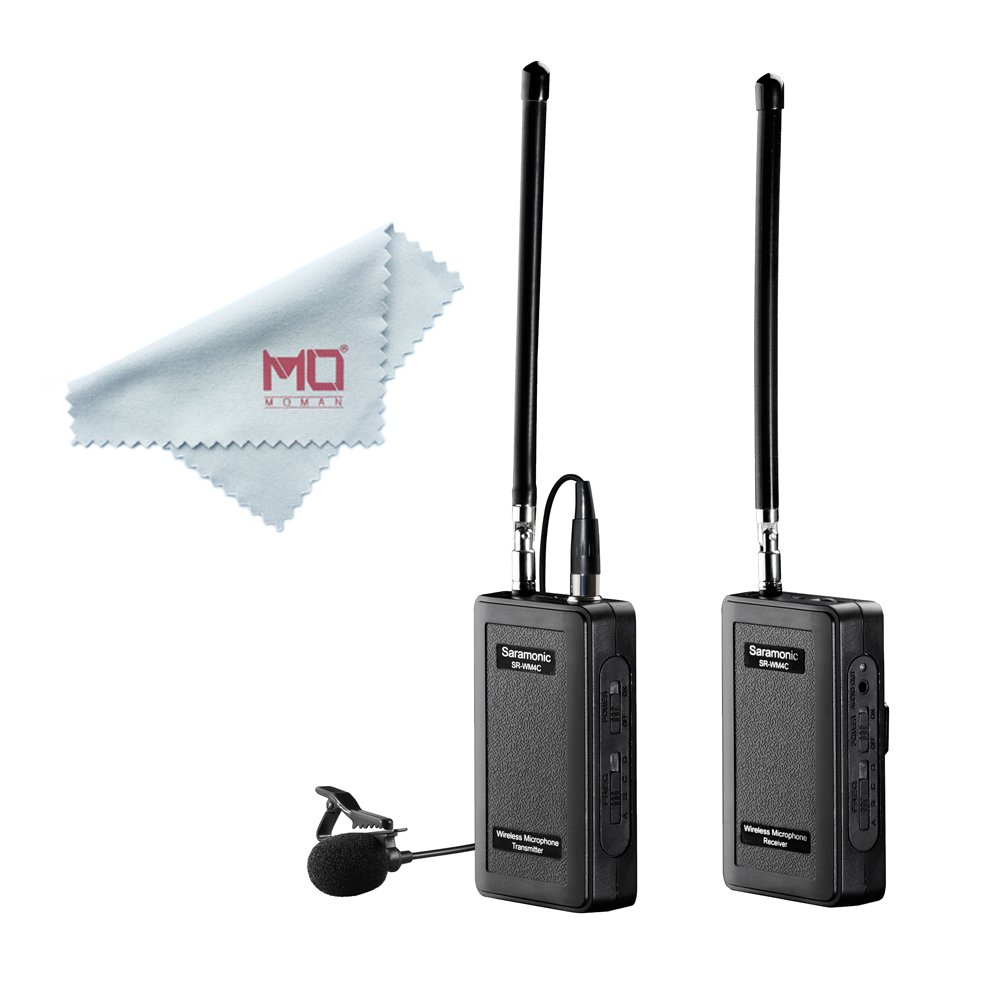 Saramonic SR-WM4C Wireless Lavalier Microphone System for IOS Smartphone iPhone 7 7 plus 6 6s iPad and DSLR Cameras Camcorder Canon 6D 600D 5D2 5D3 Nikon D800 Sony DV
