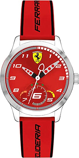 Scuderia Ferrari Unisex Kinder Analog Quarz Uhr Mit Silikon Armband 860004 Amazon De Uhren