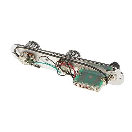 Circuito de Control de Tablero Plástico Interruptor de Tres Engranajes para Guitarra Eléctrica
