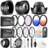 Neewer 52MM Accessory & Cleaning Kit for Nikon: Wide Angle & Telephoto Lens + Color/UV/CPL/FLD Filter + Macro Close-Up Set + Remote Control + Lens Hood & Cap + Flash Diffuser Set + Cleaning Kit
