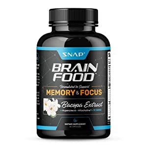 Brain Boost - Nootropics Supplement with Bacopa – Improve Focus, Concentration, and Clarity, Mind Enhancement for Memory & Retention, Increase Mental Speed and Sharpness, DMAE, Ginkgo Bilob - 60 pills
