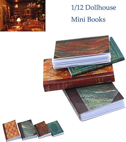 Miniature 1:12 scale Dollhouse Book Shelf Supplies Books Library Accessories