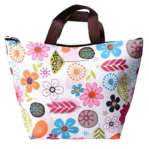 eBoot Wasserdicht Lunchtasche für Reisen und Picknick (Bunte Blume)