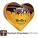 Snickers Medley Heart Shaped Assorted  Chocolate Gift Pack for Valentines Day (Snickers, Mars, Bounty) - 180g Box