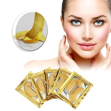 30 pares de máscara de ojos de colágeno antiarrugas, antienvejecimiento, con ojales de cristal