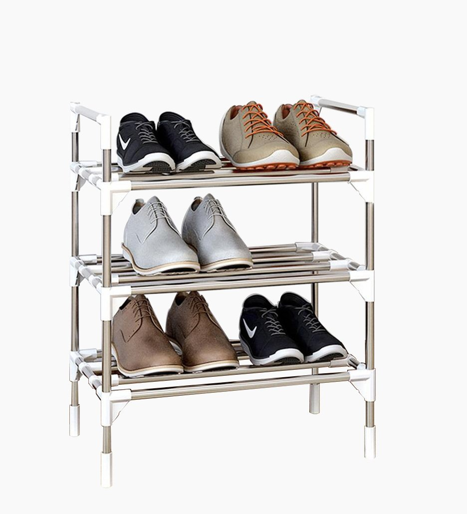 6 TIER shoes Rack Assemble Easy,Rust-Proof Stainless Steel Frame,Standing Storage Organizer for 21 Pairs of shoes (color   6, Size   Tier)