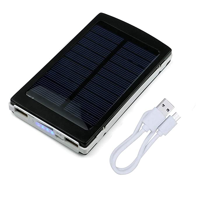 iMeshbean Portable Dual USB Solar Battery Charger Power Bank 50000mAh Phone Charger with Carabiner LED Lights for Emergency Cell Phones Tablet Camera