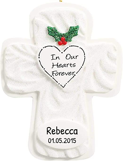 Forever Religious Christmas Stamps 2020 Amazon.com: Personalized Our Heart Forever Cross Christmas Tree