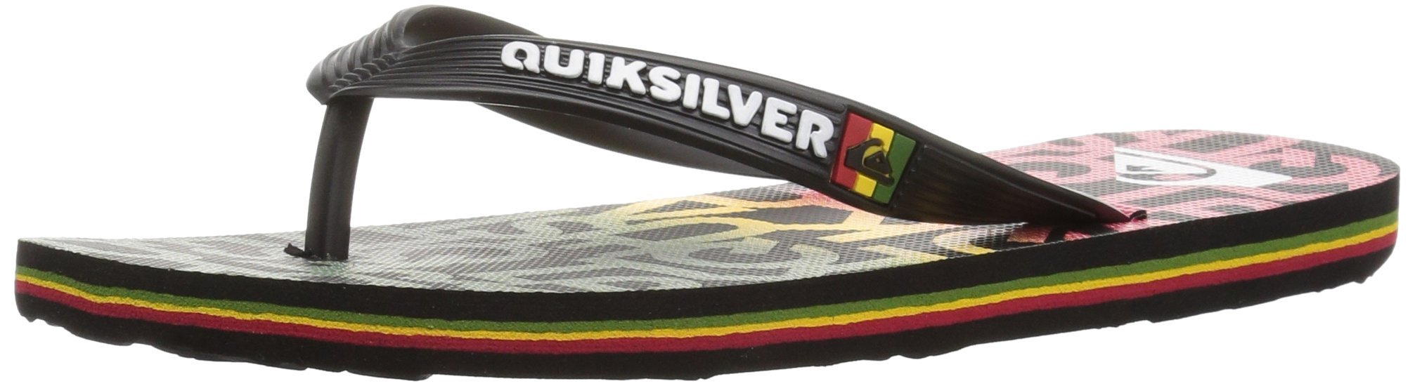 Quiksilver Kids' Molokai Random Youth Sandal, Black/Red/Green, 11 M US Little Kid