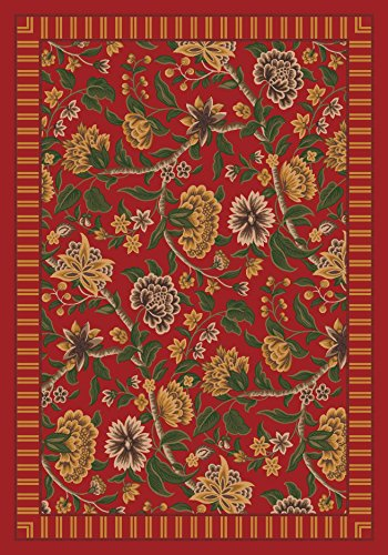 (Pastiche Vachell Indian Red Rug Rug Size: Oval 5'4