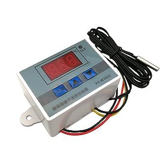 Digital LCD 220V Temperaturregler Thermostat Kontrol Schalter Sensor 55~120℃