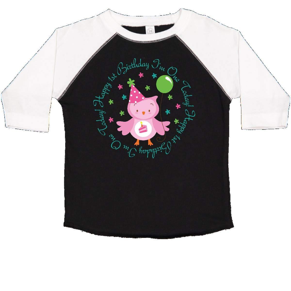 inktastic Babys 1st Birthday Owl Toddler T-Shirt