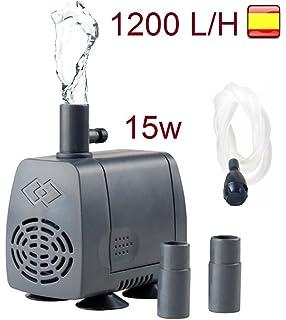 restar bomba para acuario pecera sumergible 1200 L/M 15W oxigenador de agua