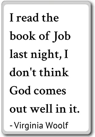 Amazon.com: I read the book of Job last night, I don\'t t ...
