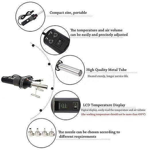 sdfghzsedfgsdfg Soldador 450W 220V Digital desoldadura Pistola de Aire Caliente portátil con Control de Temperatura de la Herramienta electrónica de ...