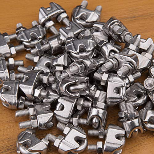 1/8 Inch Stainless Steel Wire Rope Cable Clips/Clamp(36 Pack)