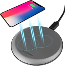 GEEKLIN Fast Wireless Chargers Wireless Charging Pad Quick Charge 5W for iPhone X/iPhone 8/8 Plus/Nexus/Xperia 10W for Galaxy S8/S8+/S7/S7 Edge(AC Adapter Not Included)