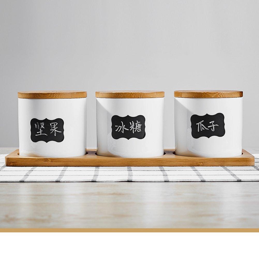 スパイスストレージコンテナ、Spice Jarsバルクストレージコンテナ空Spice JarsセラミックSpice Jar with Lid RTIISHODSF B078JPRR1J G