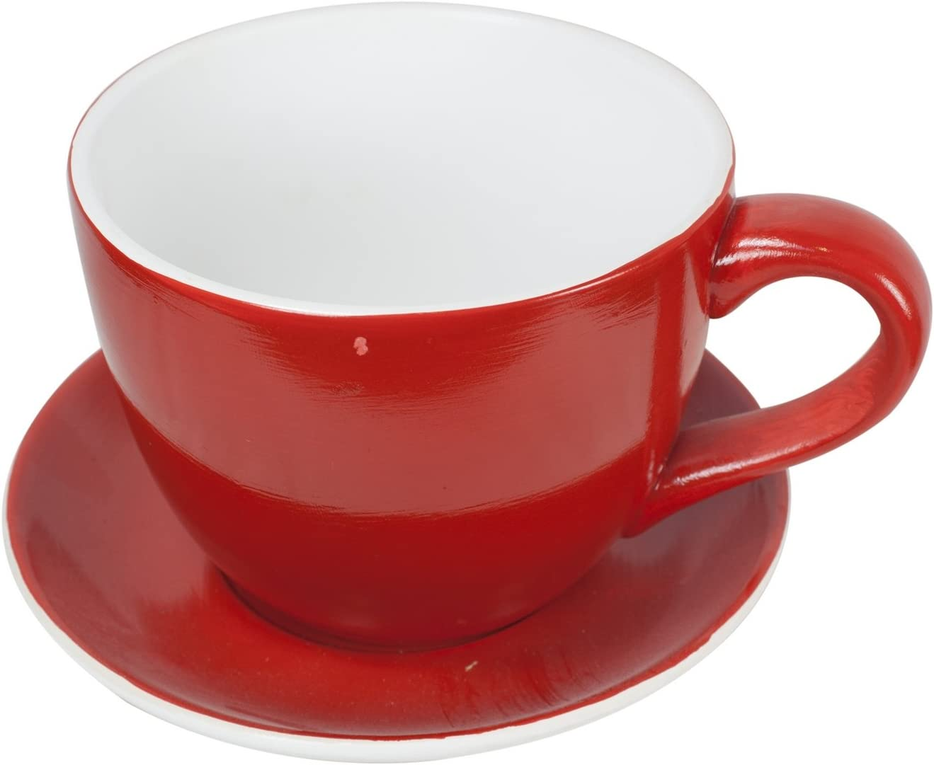 West5Products Giant Red Teacup & Saucer Planter