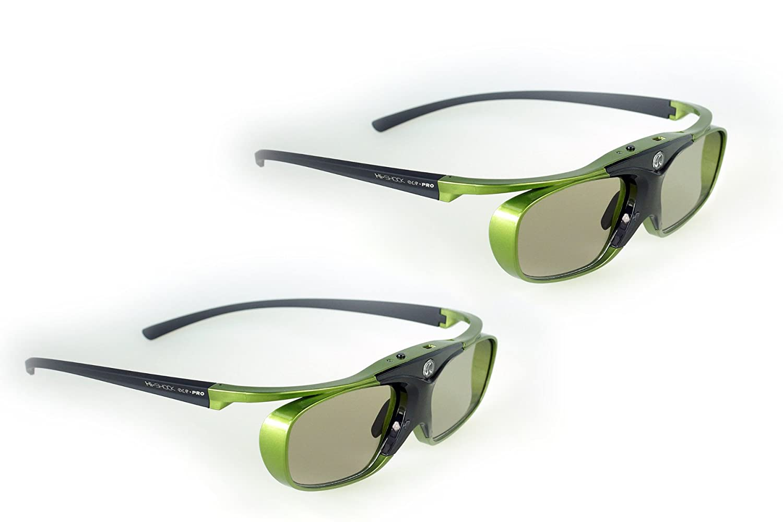 Hi-Shock Blue Heaven – DLP Link 3D Shutter Glasses / Lunettes 3D for All Brands DLP HD /UHD 3D Projectors: Acer, BenQ, Optoma, Viewsonic, Philips, LG, Infocus, Vivitek incl. Hardcase BlueHCA