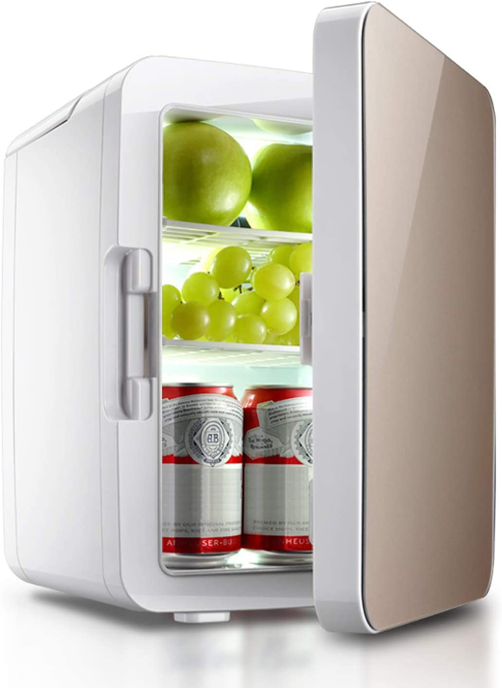 Mirzebo Mini Fridge Electric Cooler & Warmer (10 Liter / 12 Can) Portable Car Refrigerator 10L with AC/DC Adapter for Road Trips, Travel, Picnic, Camping, Beach Trips, Homes, Offices, and Dorms
