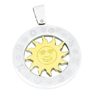 Aretha atemberaubend Damen 316L Edelstahl Rom Symbol Gold groß Sonne ...