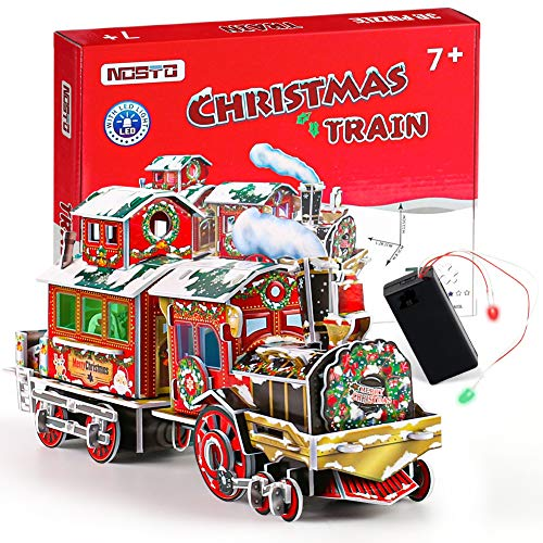 3-DIMENSIONAL HOLIDAY TRAIN PUZZLE