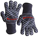 SimplyFire Cooking Gloves | Use As BBQ, Grilling & Oven Mitts | Best Gloves For Barbecue, Fireplace, Fire Pit & Dutch Oven | Extreme Heat Resistant | Kitchen & Grill Accessories (2 Gloves)