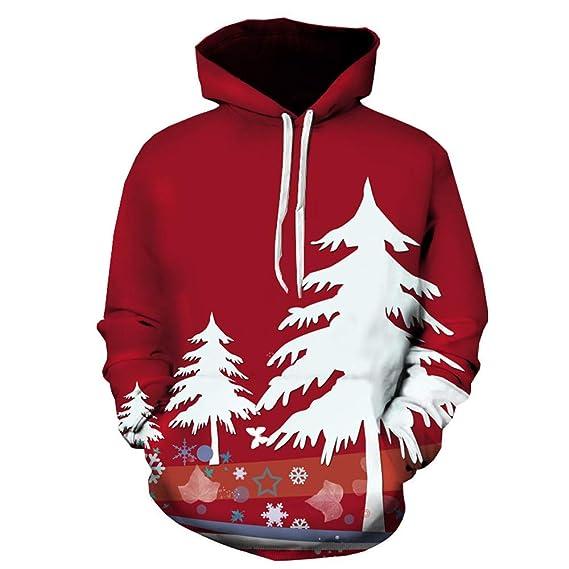 Yvelands Ofertas de Ropa para Hombres, Moda Casual para Hombre Árbol de Navidad 3D con Capucha Suéter con Capucha Top Chaquetas y Abrigos: Amazon.es: Ropa y ...