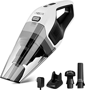 Handheld Vacuum, Hand Vacuum Cleaner Cordless with 14.8V Li-ion Battery, 8Kpa Powerful Rechargeable Wet Dry Vacuum for Cars, Furniture Stairs and Pet Hairs