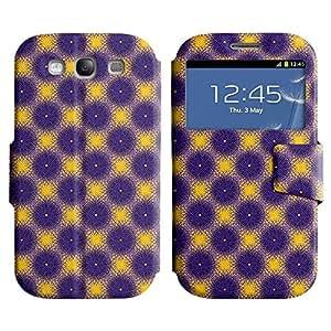 LEOCASE Círculos De Color Púrpura Funda Carcasa Cuero Tapa Case Para Samsung Galaxy S3 I9300 No.1000856