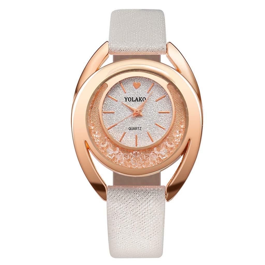 Longra❤ ❤ Diseño de Forma Irregular Reloj de Pulsera analógico de Cuarzo Casual para Mujer: Amazon.es: Deportes y aire libre